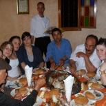 Les étudiants ont eu la chance d'être invités à un festin !